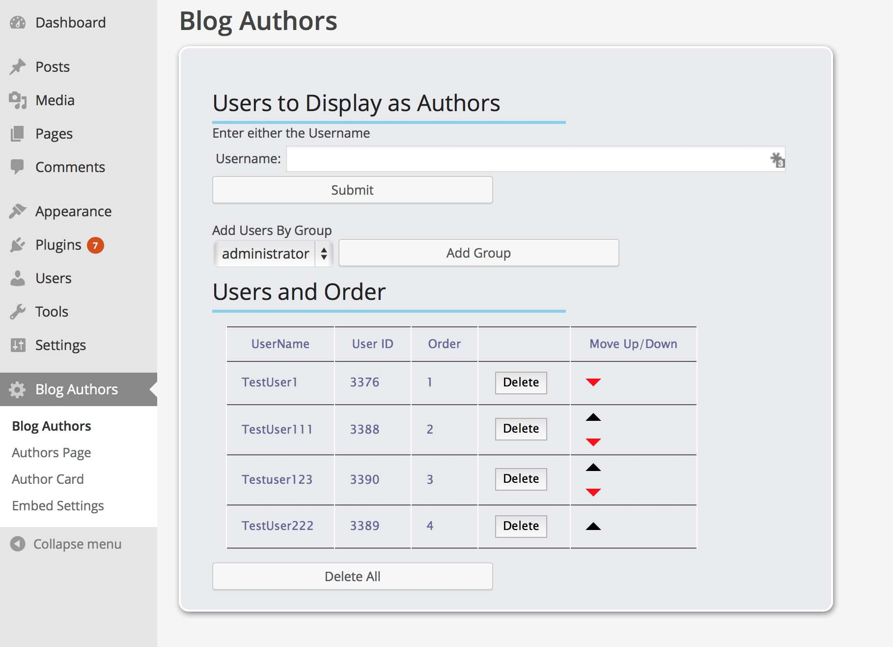 Blog Authors Plugin WordPress