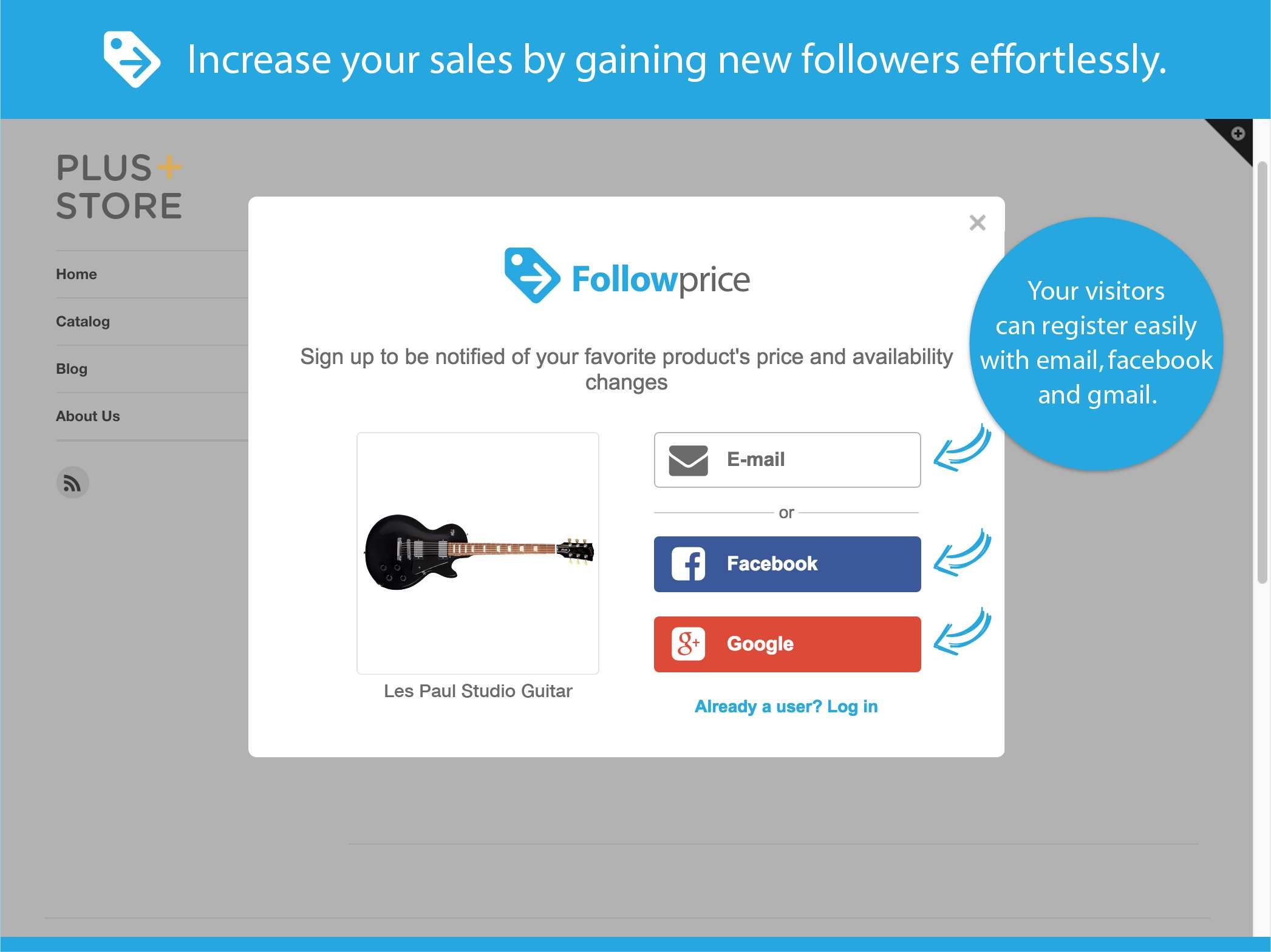 Price Drop and In Stock Alert by Followprice Plugin WordPress
