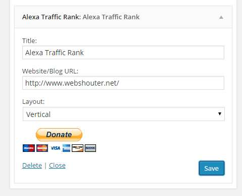 Alexa Traffic Rank Widget Plugin WordPress, Download, Install