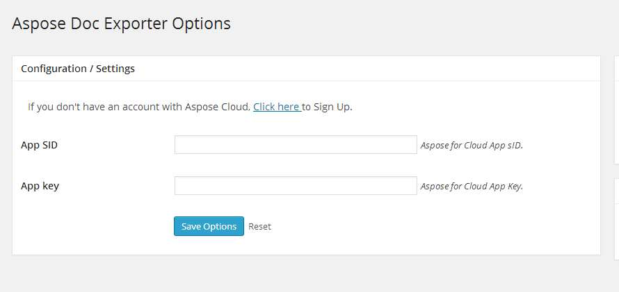 Aspose DOC Exporter Plugin WordPress, Download, Install