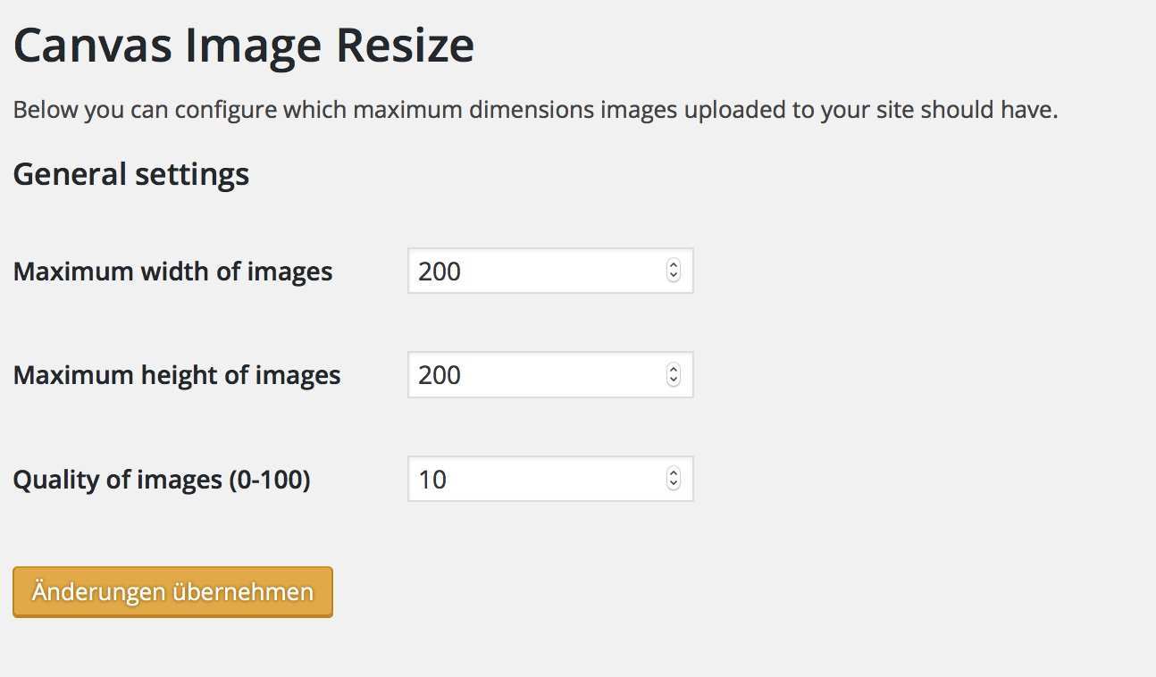 Canvas Image Resize Plugin WordPress, Download, Install