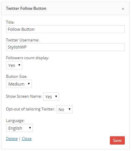 Twitter Follow Button Plugin WordPress, Download, Install
