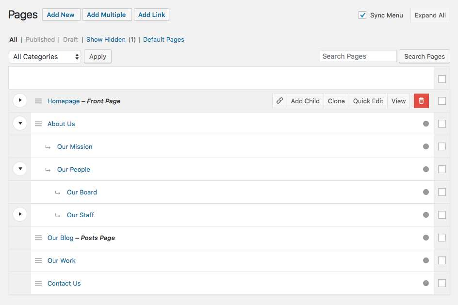 Nested Pages Plugin WordPress, Download, Install