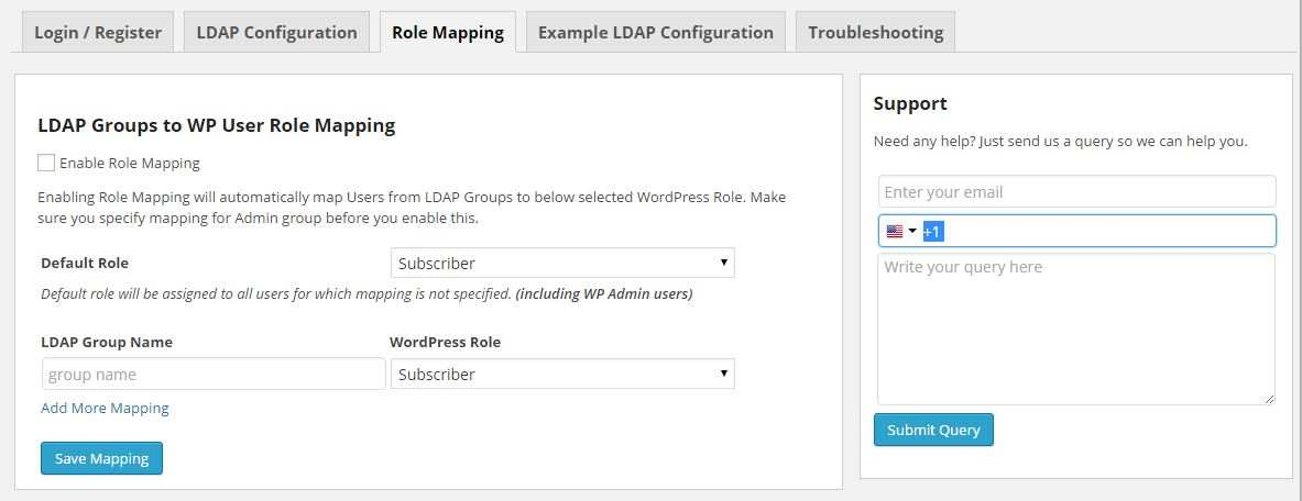 Active Directory/LDAP Login for Intranet sites Plugin WordPress