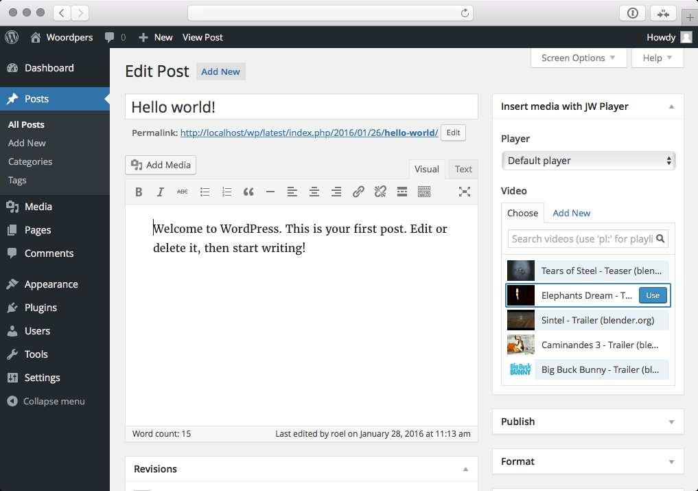 JW Player for WordPress Plugin WordPress