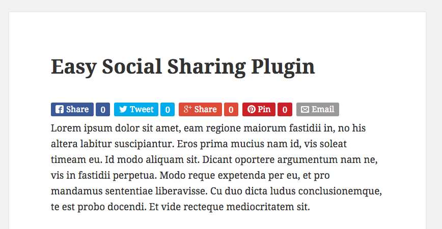 Easy Social Share Buttons Plugin WordPress, Download, Install