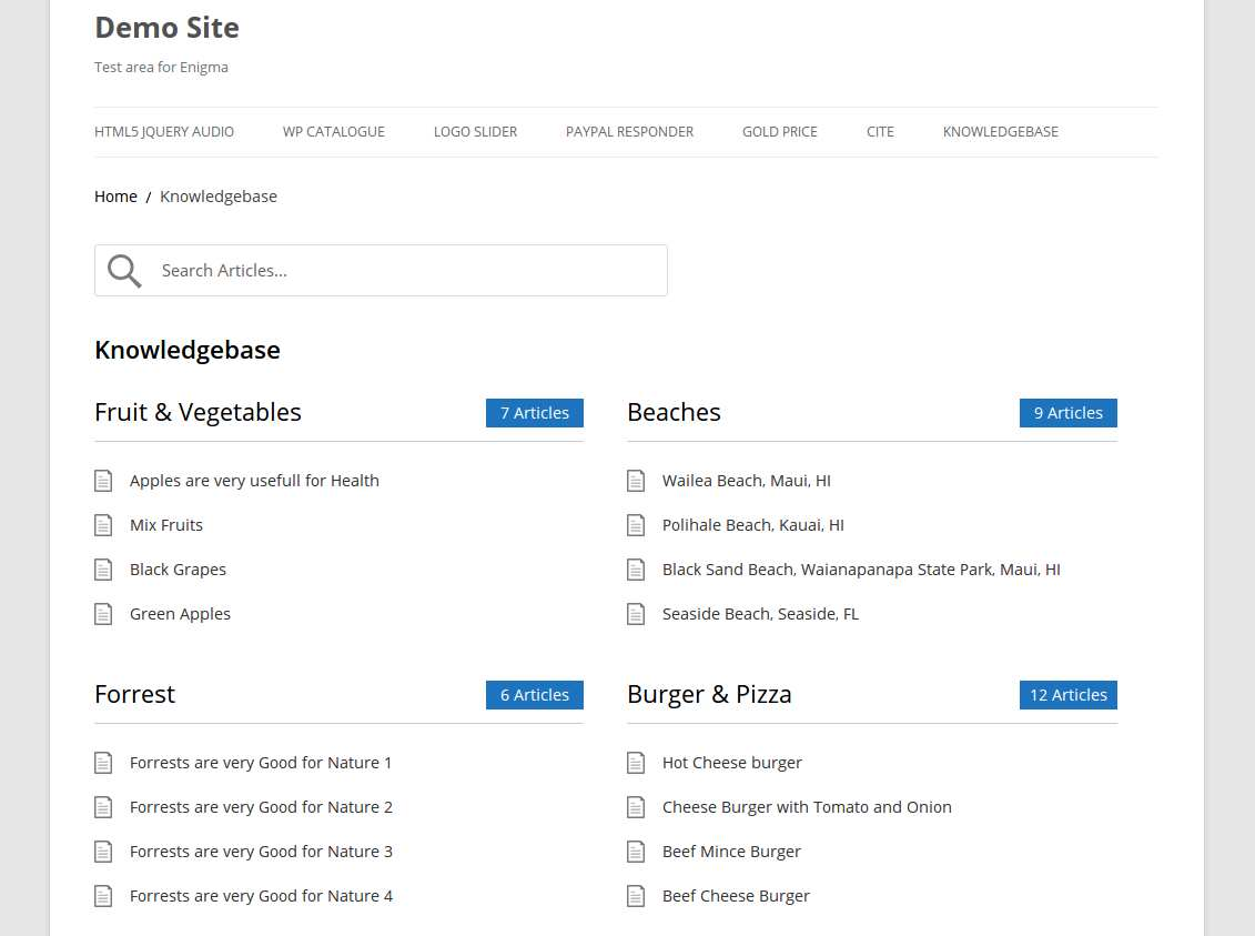 WP Knowledgebase Plugin WordPress, Download, Install