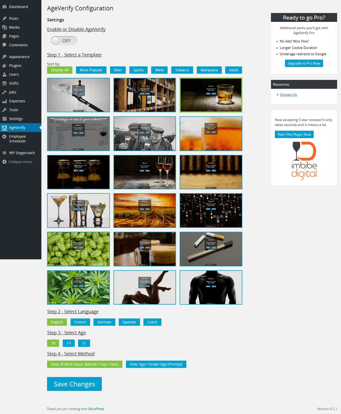 AgeVerify Plugin WordPress, Download, Install