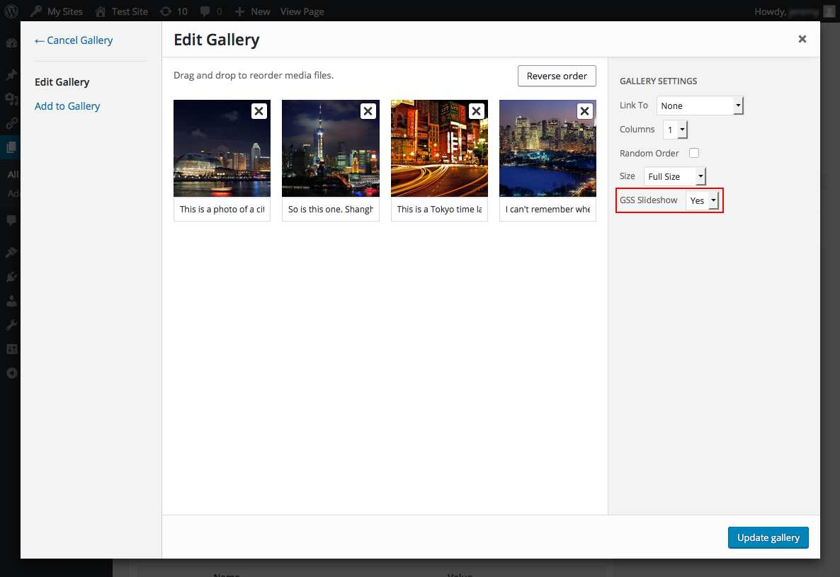 Gallery Slideshow Plugin WordPress, Download, Install