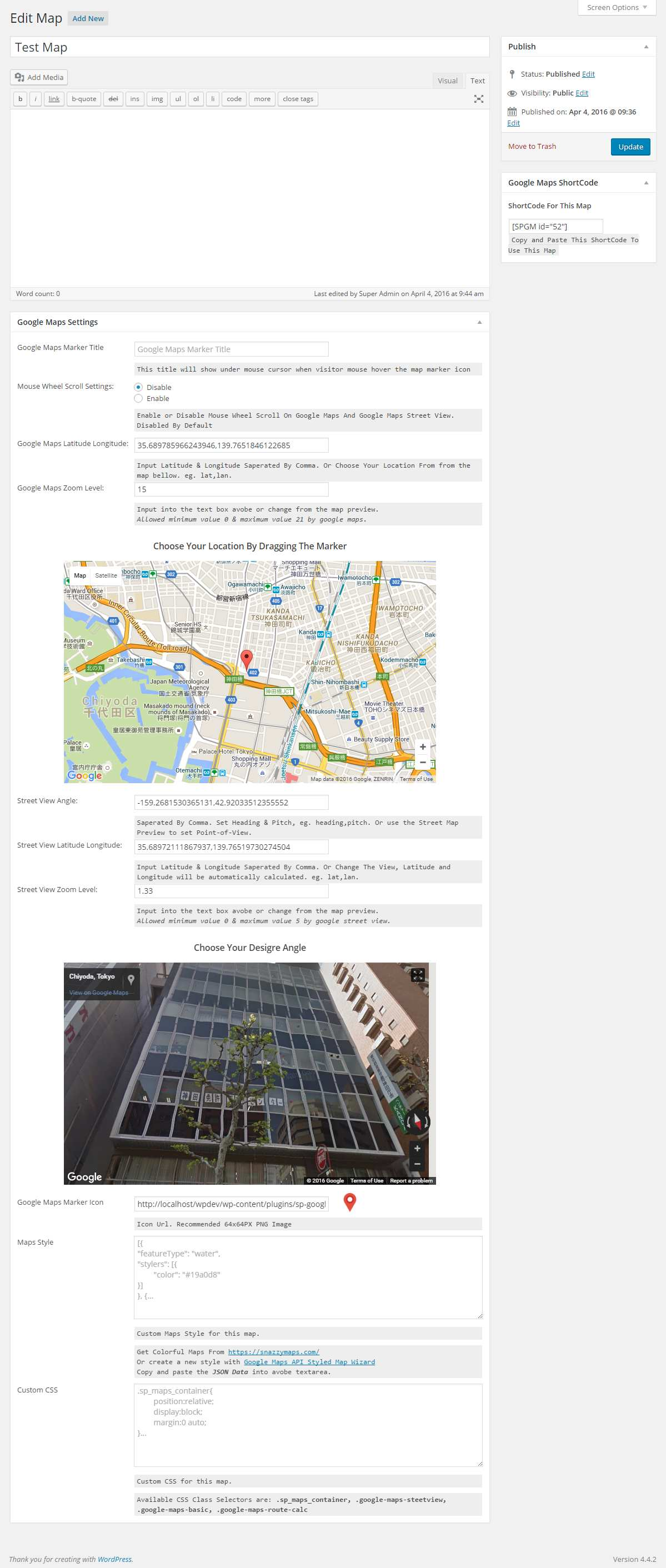 SP Google Maps Plugin WordPress, Download, Install