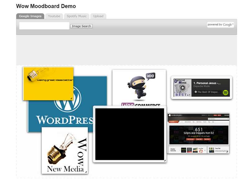 Wow Moodboard Lite Plugin WordPress