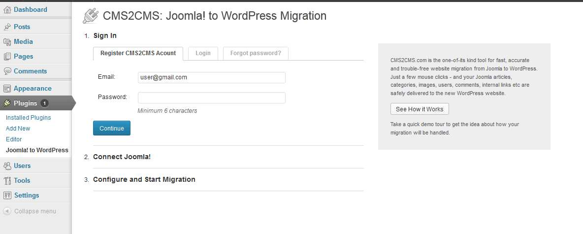 CMS2CMS: Ektron to WordPress Migration Plugin WordPress, Download, Install