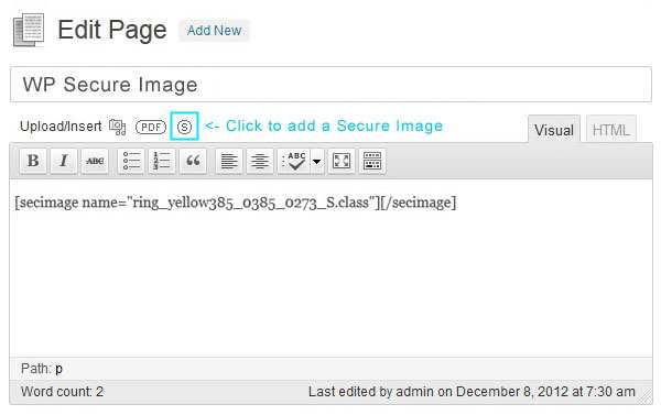 Secure Image Protection Plugin WordPress, Download, Install