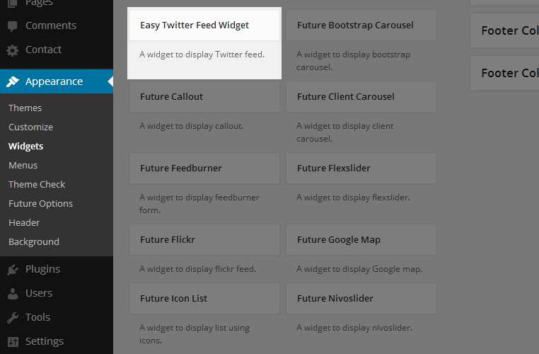 Easy Twitter Feed Widget Plugin Plugin WordPress