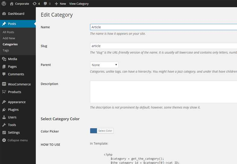 Category Color Plugin WordPress, Download, Install