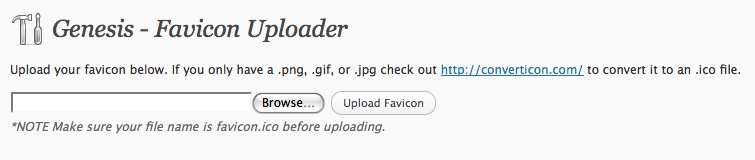Genesis Favicon Uploader Plugin WordPress, Download, Install