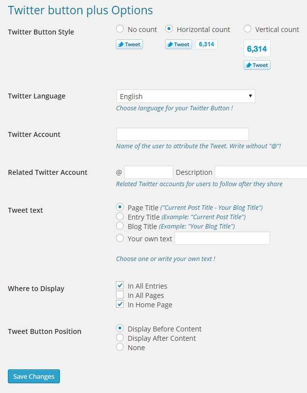 how to add twitter button to wordpress