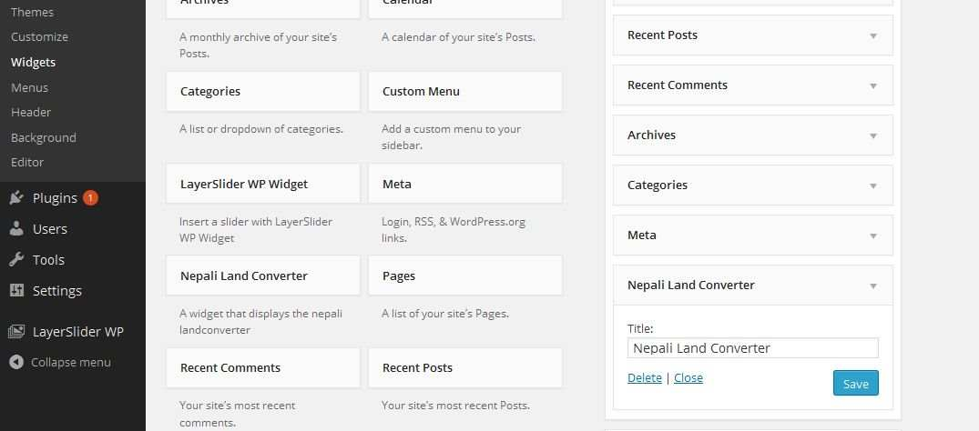 Nepali Land Converter Plugin WordPress, Download, Install