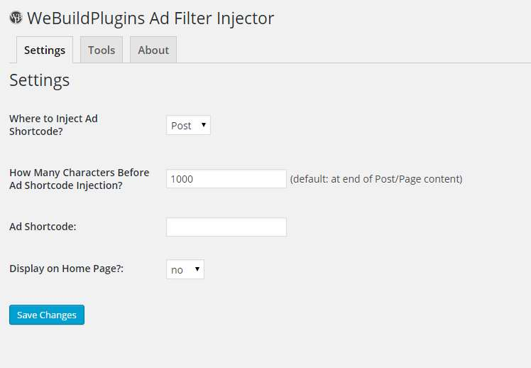 WBP Ad Filter Injector Plugin WordPress, Download, Install