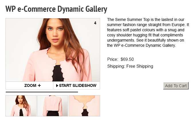 WP e-Commerce Dynamic Gallery Plugin WordPress, Download, Install