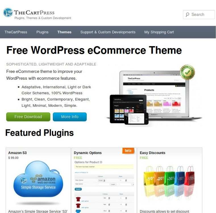 TheCartPress eCommerce Shopping Cart Plugin WordPress, Download, Install