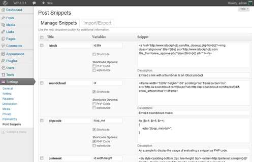 Post Snippets Plugin WordPress, Download, Install