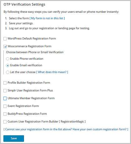 Email Verification / SMS verification / Mobile Verification Plugin WordPress, Download, Install