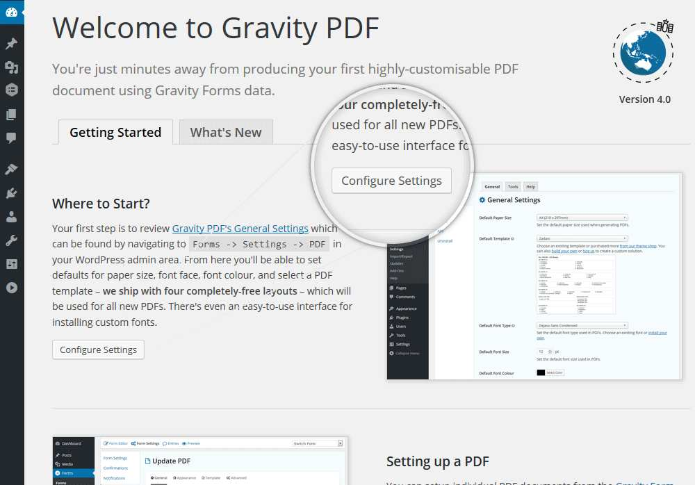 Gravity PDF Plugin WordPress