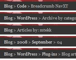 Breadcrumb NavXT Plugin WordPress