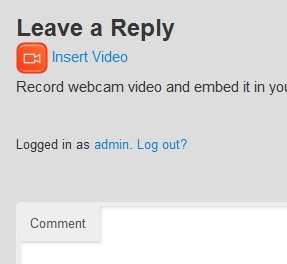 Video Comments Webcam Recorder Plugin WordPress, Download, Install