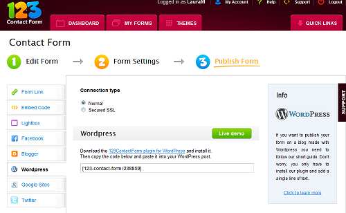 123ContactForm for WordPress Plugin WordPress, Download, Install