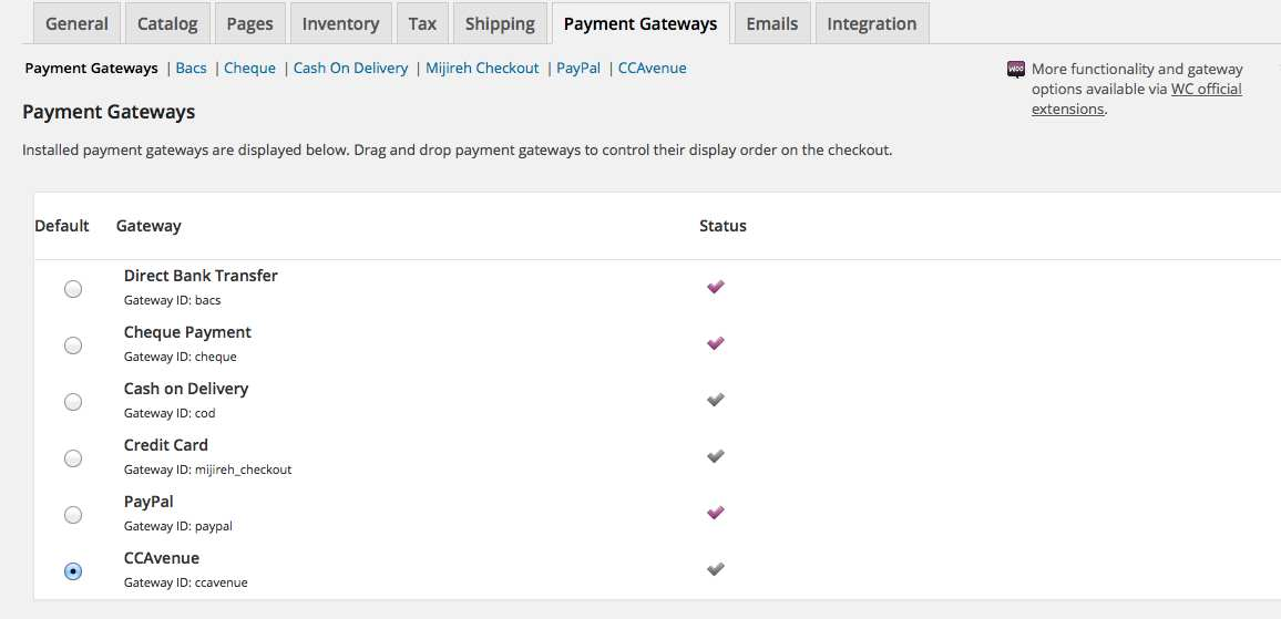 CCAvenue Payment Gateway for WooCommerce Plugin WordPress, Download, Install