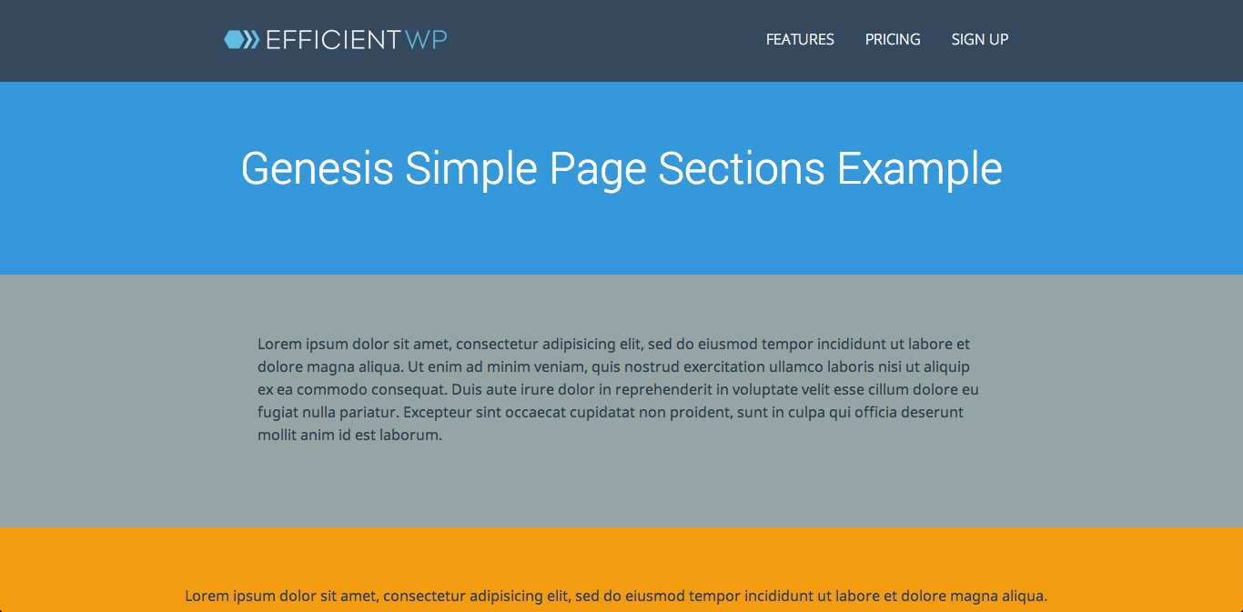 Genesis Simple Page Sections Plugin WordPress, Download, Install