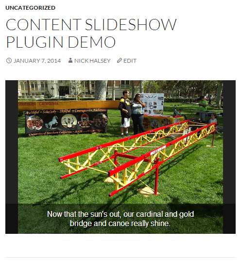 Content Slideshow Plugin WordPress