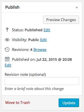 Revision Notes Plugin WordPress