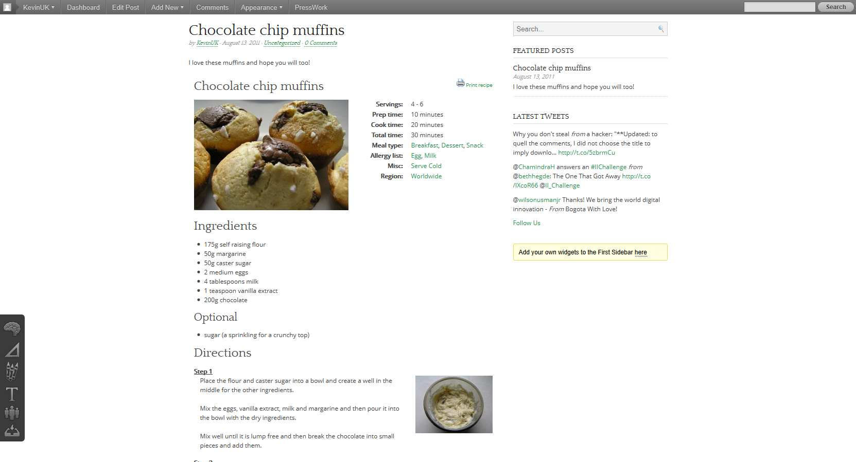 GetMeCooking Recipe Template Plugin WordPress, Download, Install