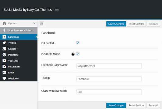 Social Media by Lazy Cat Themes Plugin WordPress, Download, Install