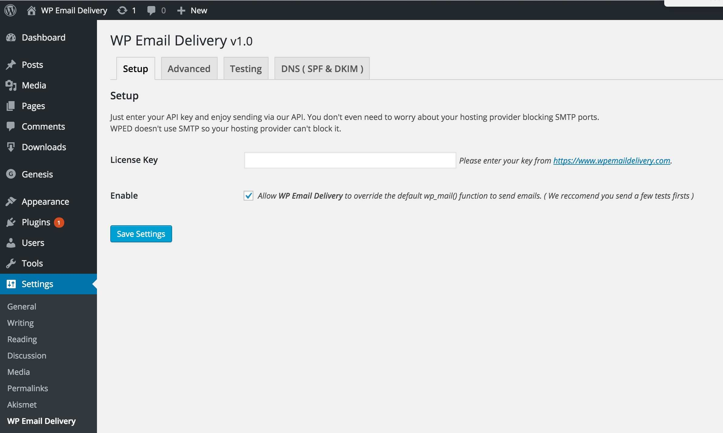WP Email Delivery Plugin WordPress, Download, Install