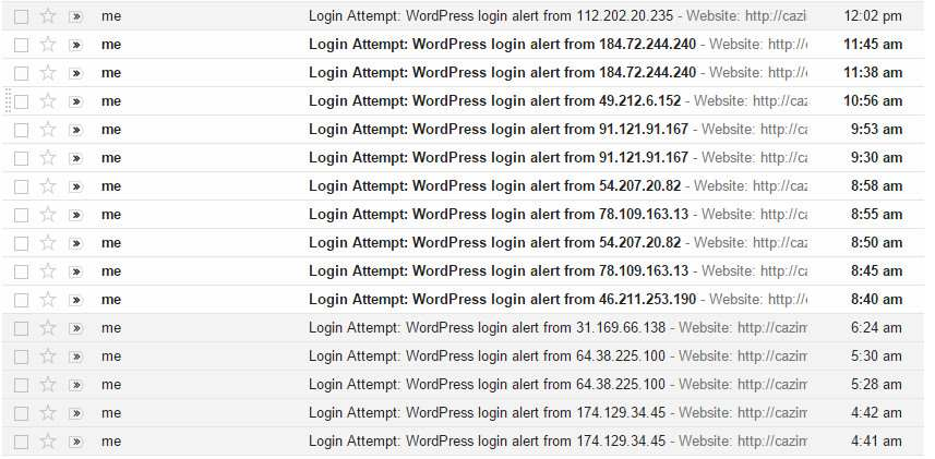 Email Login Attempts Plugin WordPress, Download, Install