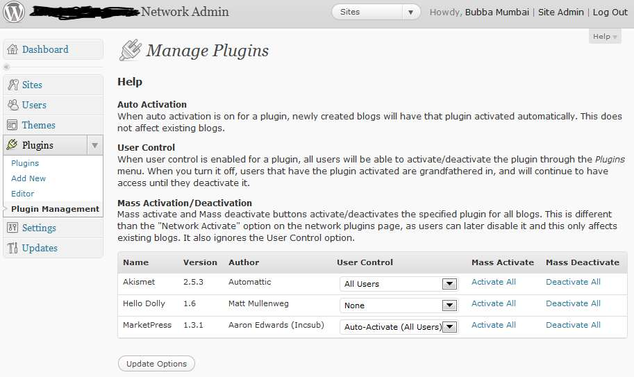 Multisite Plugin Manager Plugin WordPress, Download, Install