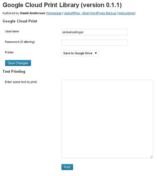 Google Cloud Print Library Plugin WordPress, Download, Install