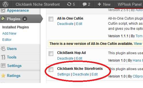 Clickbank WordPress Plugin (Niche Storefront) Plugin WordPress, Download, Install
