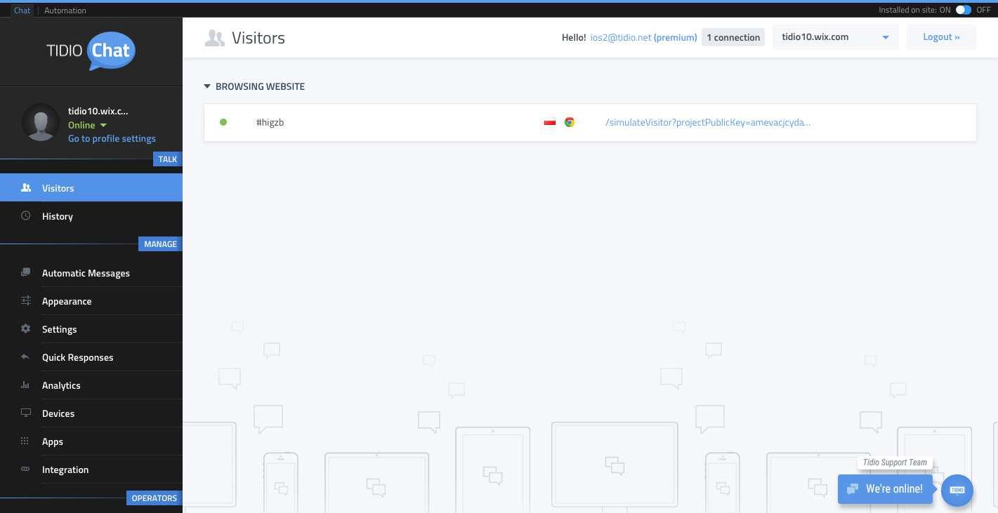 Tidio Live Chat Plugin WordPress