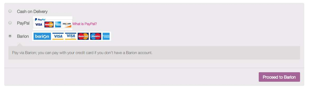 Barion Payment Gateway for WooCommerce Plugin WordPress