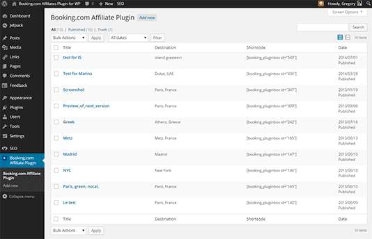 Booking.com Affiliate plugin Plugin WordPress, Download, Install