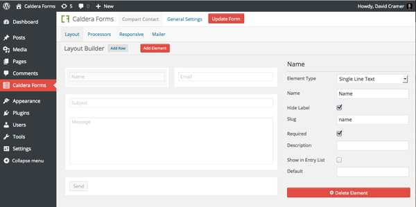 Caldera Forms – Drag and drop responsive WordPress form builder Plugin WordPress, Download, Install