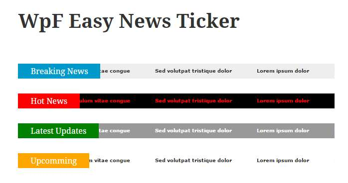 WpF Easy News Ticker Plugin WordPress, Download, Install