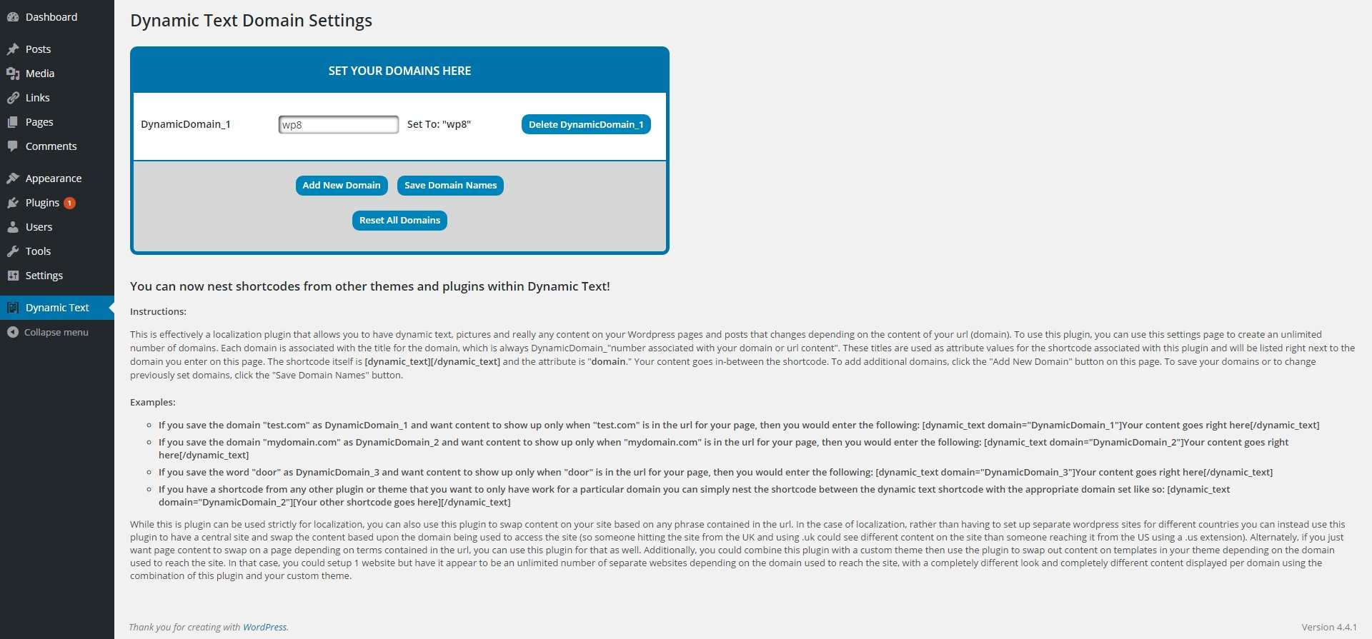 Dynamic Text Plugin WordPress, Download, Install