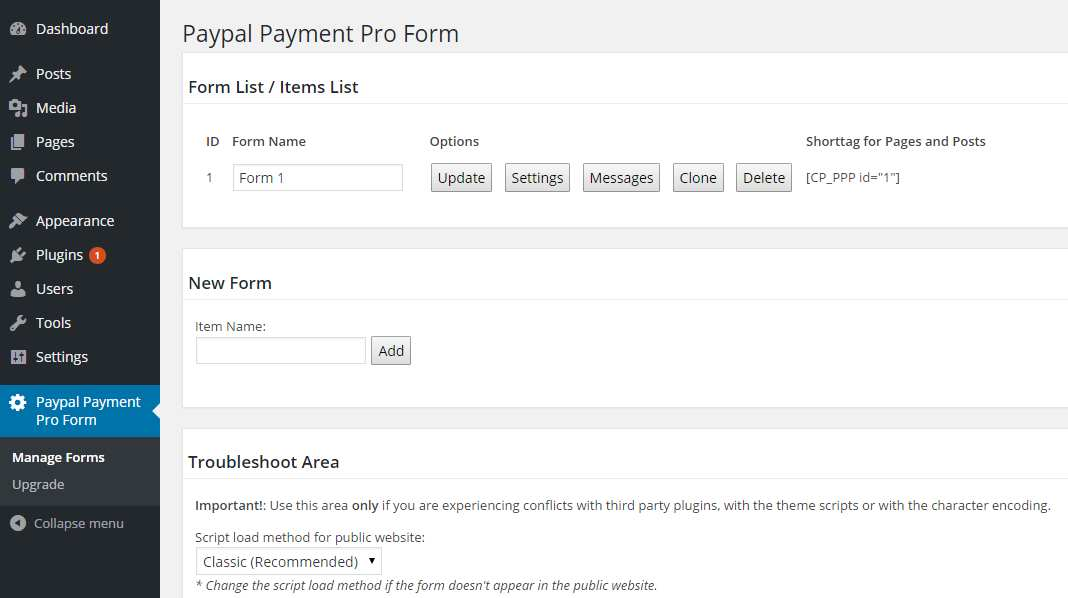 Payment Form for PayPal Pro Plugin WordPress, Download, Install