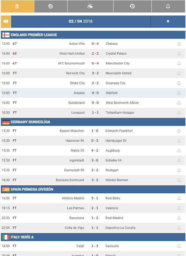 Football Live Scores Plugin WordPress